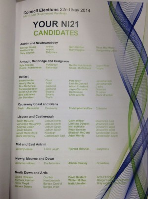 ni21 council candidates