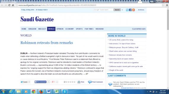 Robb Saudi Gazette