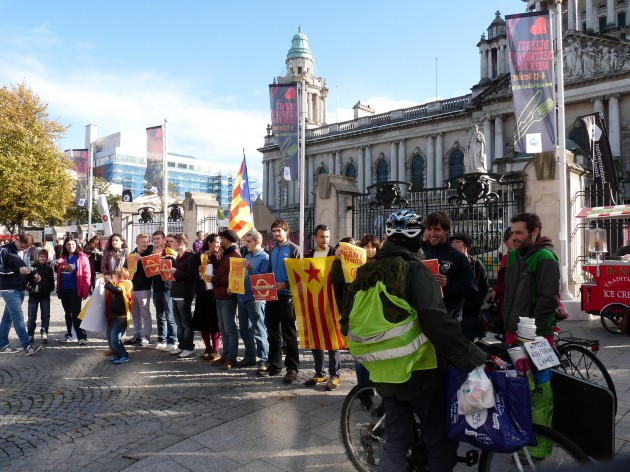 catalan flag protests