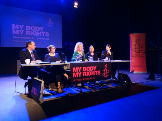 Amnesty NI - My Body My Rights launch panel