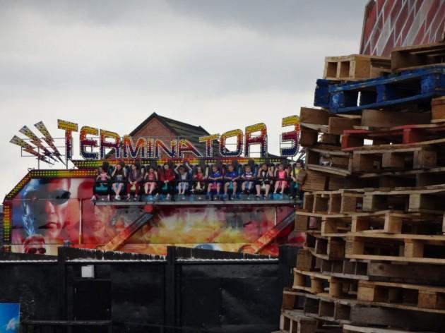 Pitt Park 11 July 2014 Terminator 3 bonfire