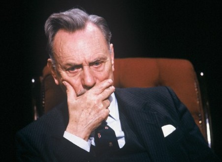 "Enoch Powell (1912-1998), UUP MP for South Down 1974-87, pictured here in Channel 4's ""After Dark"" (1987)"