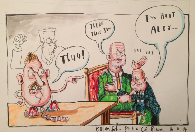 Sammy Wilson cartoon,  Brian John Spencer