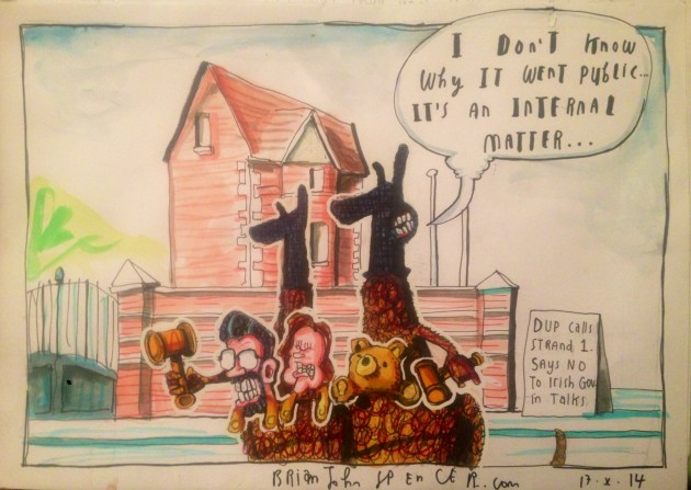 Gerry Adams cartoon