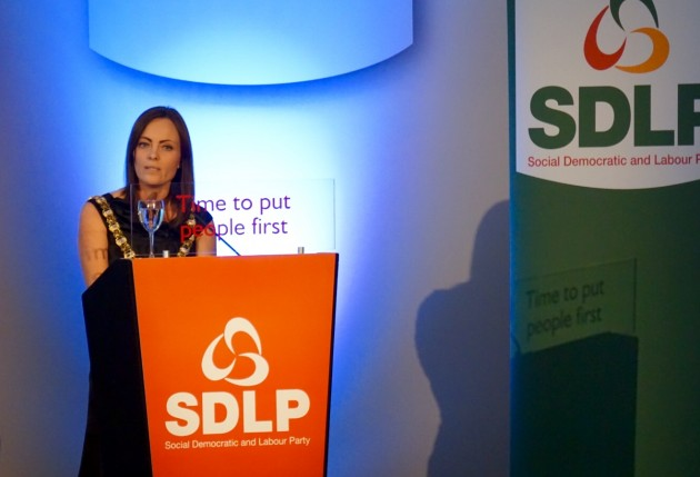 Belfast Lord Mayor & SDLP Councillor Nicola Mallon opens the SDLP Conference 2104. Ramada Hotel, Belfast.