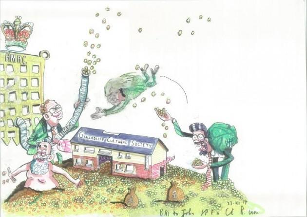 Gulladuff community centre cartoon, Brian John Spencer