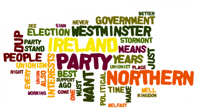 dup14 Peter Robinson speech wordle