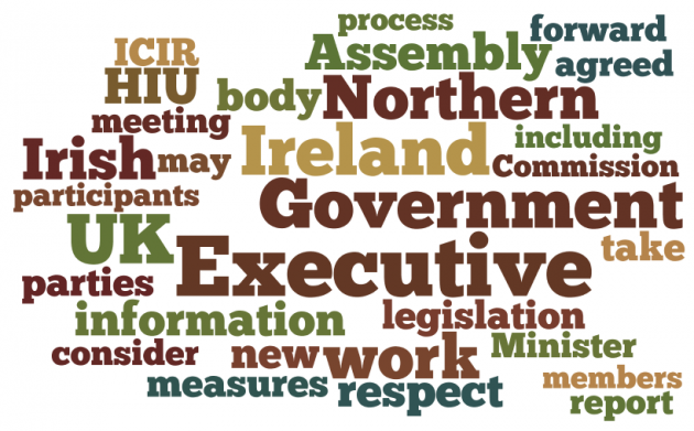 Wordle of Stormont House Agreement December 2014
