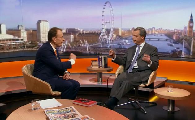 Nigel Farage, Andrew Marr Show 25/1/15