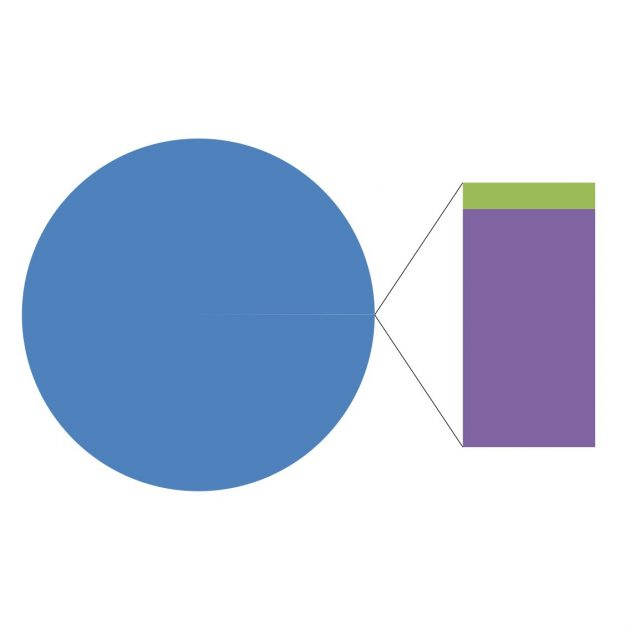 Adam Turkington pie chart of arts funding