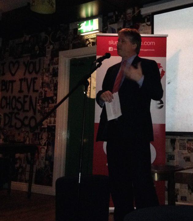 Basil McCrea addressing Slugger tweetup