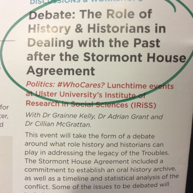 Role of History and Historians in Dealing with the Past leaflet