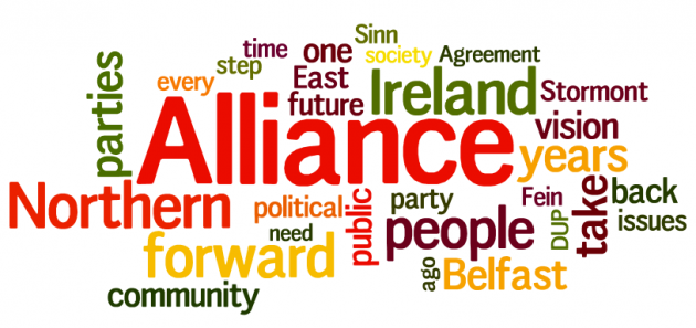Wordle of David Ford speech to Alliance 2015 conference