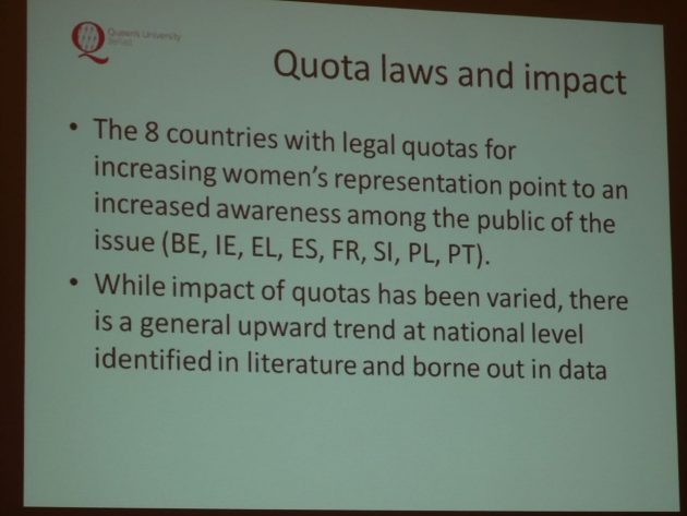 Yvonne Galligan Gender Quotas in Politics 12