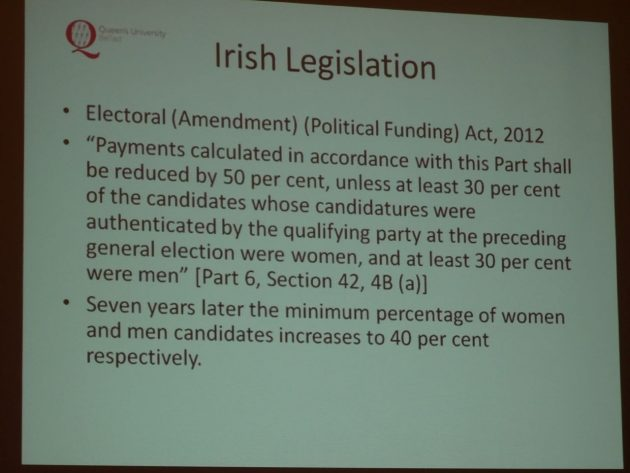 Yvonne Galligan Gender Quotas in Politics 13