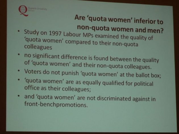 Yvonne Galligan Gender Quotas in Politics 17