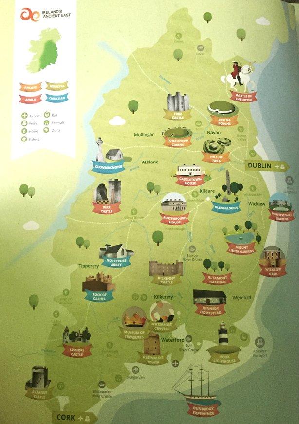 Irelands Ancient East Map