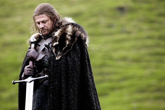 Ned Stark prepares for an execution. Beheading is still used in Saudi Arabia. Photo credit: HBO / Sky Atlantic