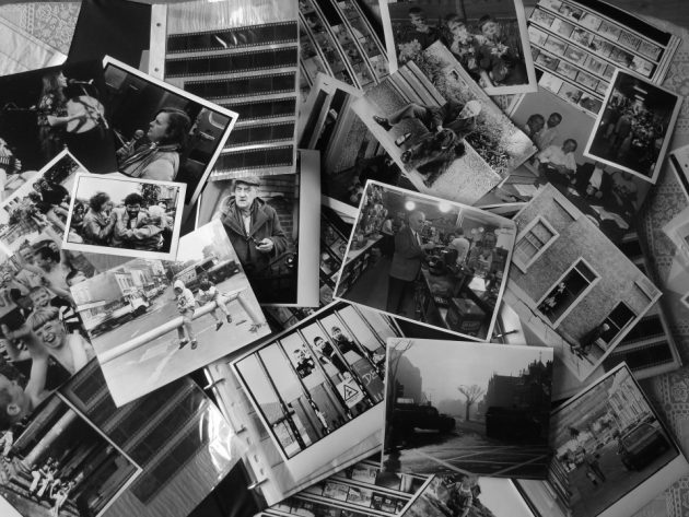 Table of photos and negatives by Sean Allen