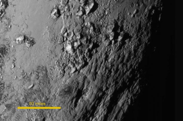 New Horizons Pluto surface detail
