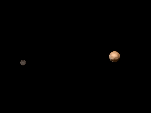 New Horizons Pluto Charon Color 8 July 2015