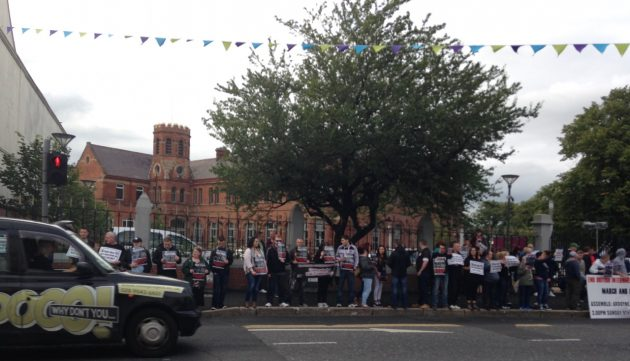 Protest outside St Marys