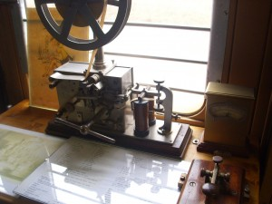 The electrical telegraph made it possible to transmit standard time signals across the world. (C) Zacatecnik under Creative Commons 3.0.
