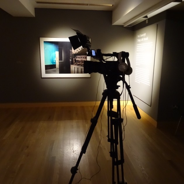 Things Left Unsaid - NvTv camera in front of painting