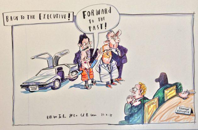 DUP political cartoon