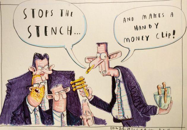 Edwin Poots cartoon