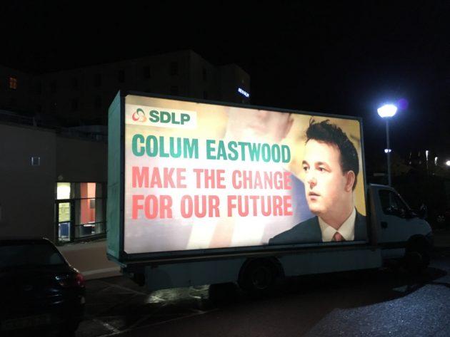 SDLP15 Colum Eastwood advertising truck