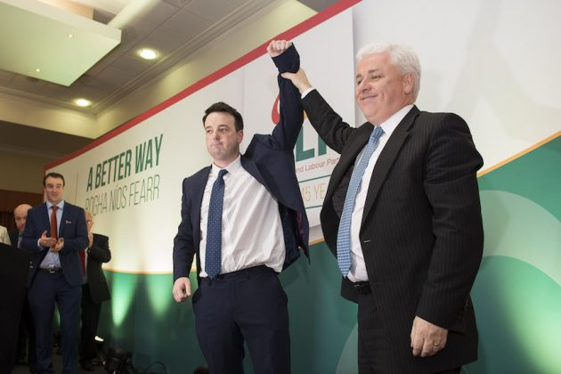SDLP Conference 2015 new leader Colum Eastwood and Deputy Leader Fearghal McKinney