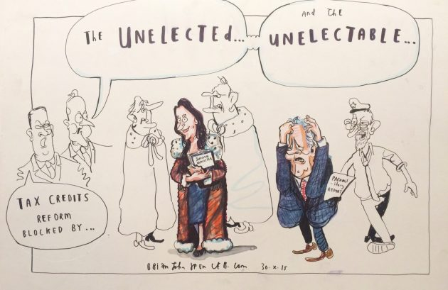 Emma Pengelly and Peter Robinson cartoon