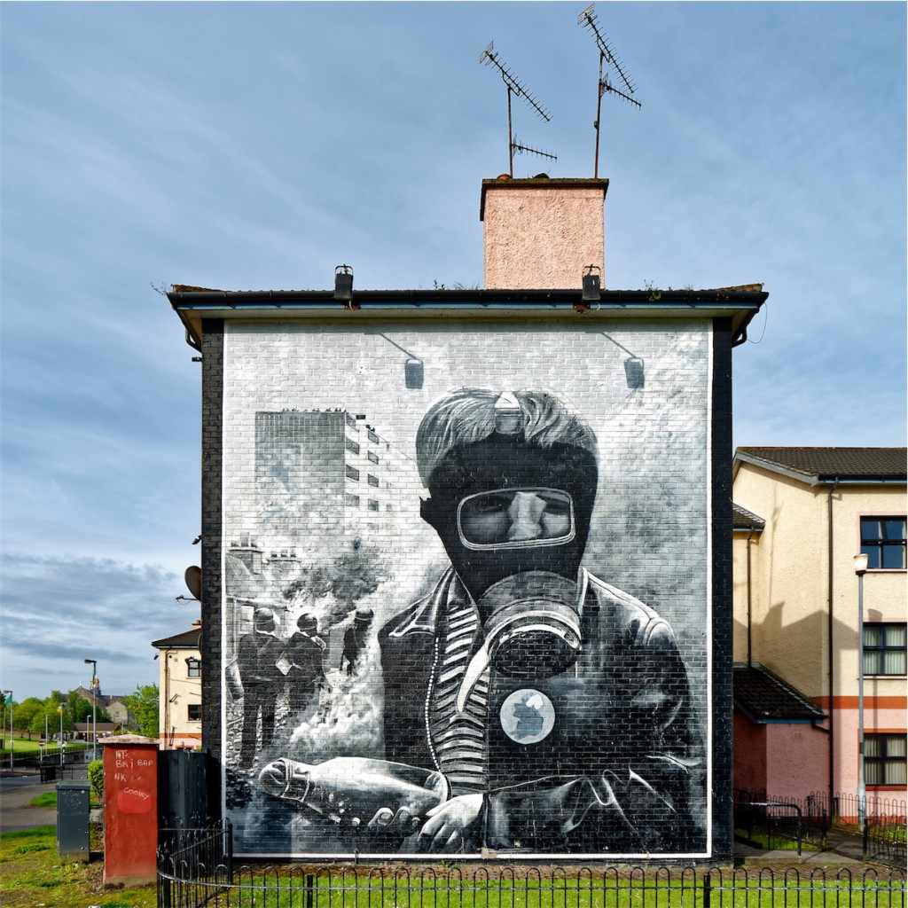 """The Petrol Bomber"", as titled by the Bogside Artists. Bogside, Derry."