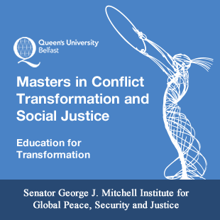 Study a masters in Conflict Transformation and Social Justice