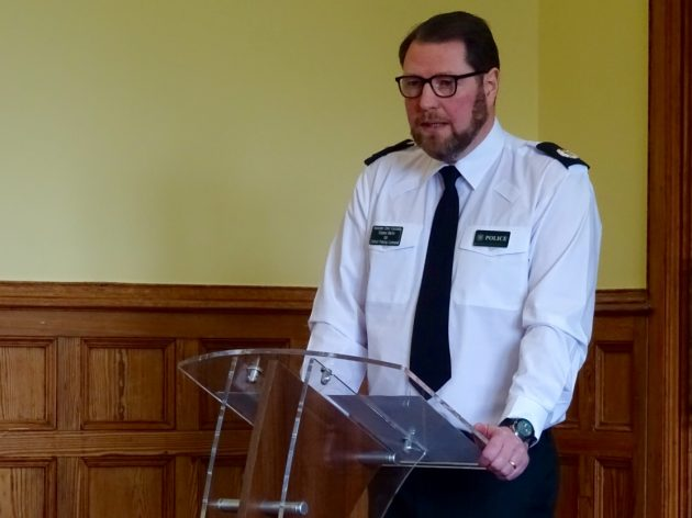 PSNI ACC Stephen Martin at flag report launch