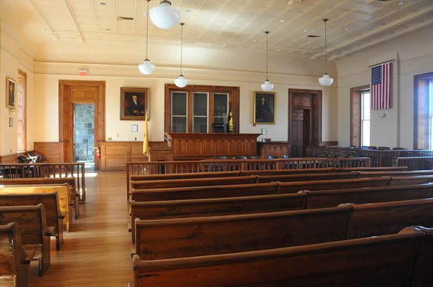 Hunterdon Courthouse courtroom, scene of the 1935 trial of Bruno Richard Hauptmann