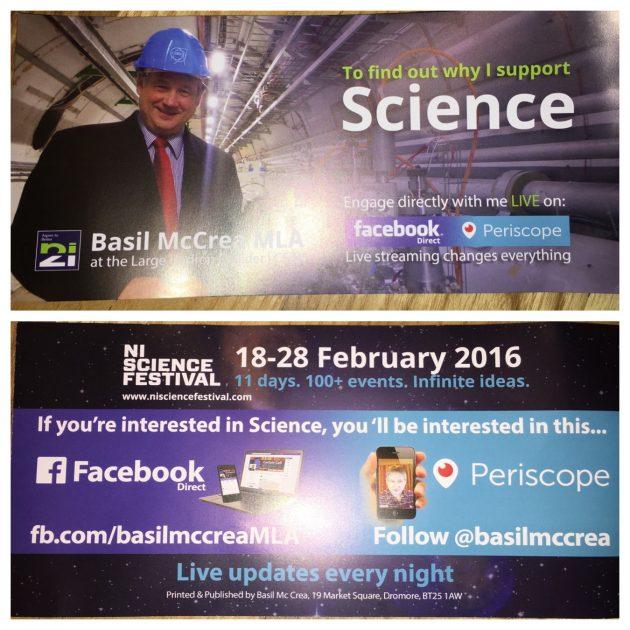 NI21 Basil McCrea leaflet