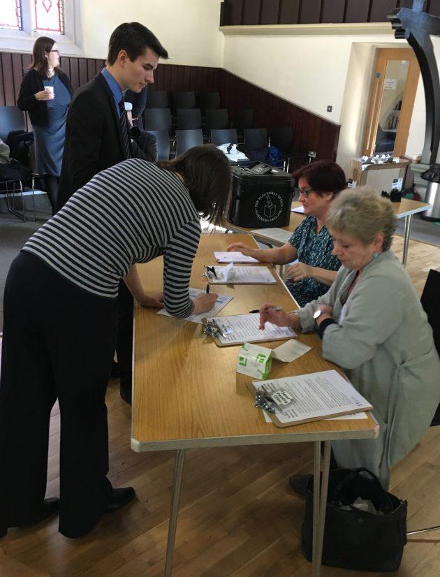 Poll clerks