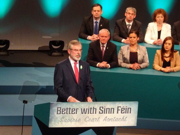 Gerry Adams Saturday night speech to ard fheis