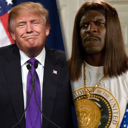 One of these men is a loud, foul-mouthed bombastic character who you can't really imagine could be President, while the other one...