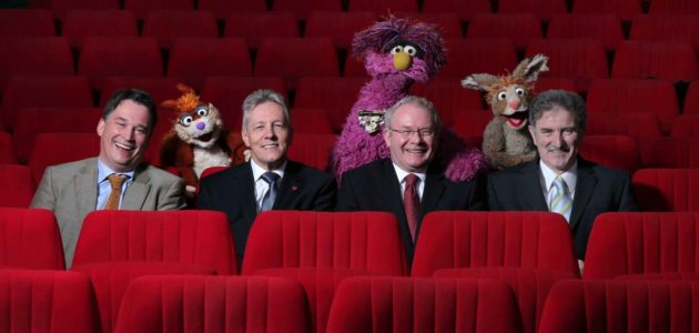 Richard Williams Peter Robinson Martin McGuinness Sesame Tree Series Two launch
