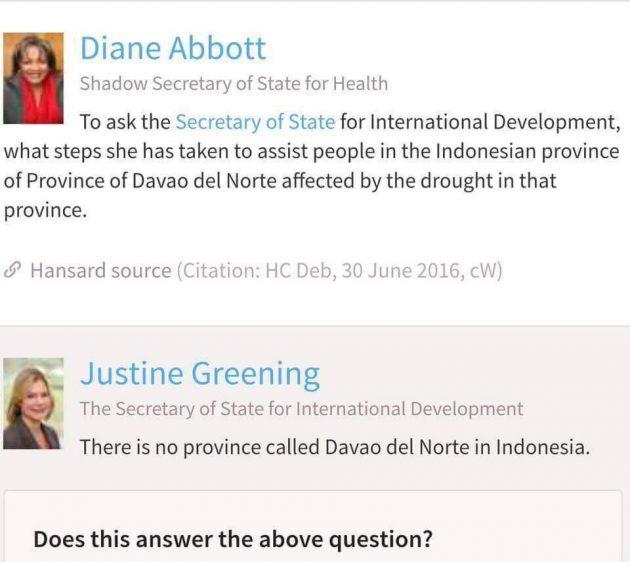 Diane Abbot mistake
