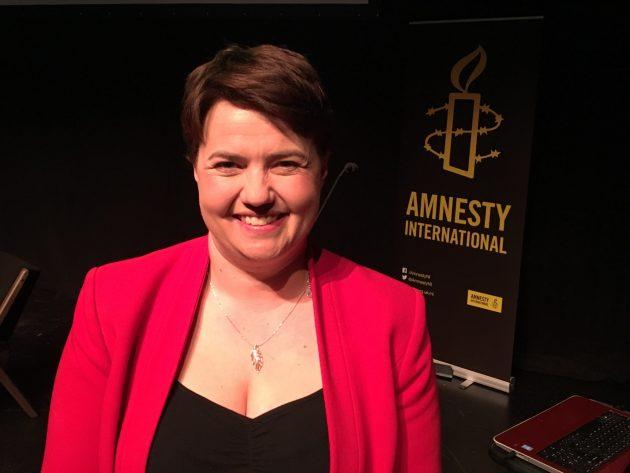 Ruth Davidson MSP fiving Amnesty NI annual Belfast Pride lecture 2016