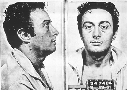 Lenny Bruce (1925-66) in one of his many mugshots