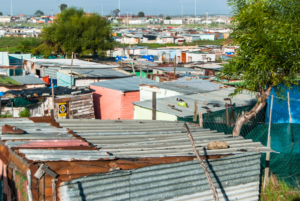 Many South Africans continue to live in acute poverty, as here in Cape Town's enormous Khayelitsha district.