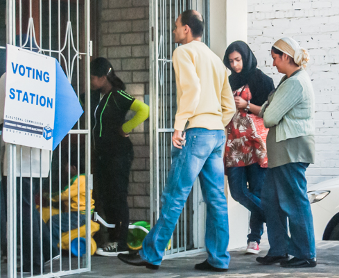 Queuing to vote in Cape Town's Athlone district in 2011.