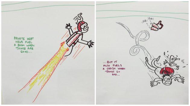 Patrick Sanders sketch based on Steve Keen's talk
