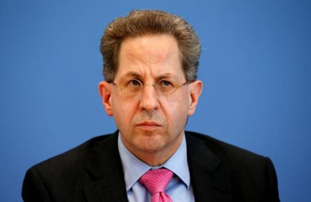 "Hans-Georg Maassen, ""This could happen again next year and we are alarmed, We have the impression that this is part of a hybrid threat that seeks to influence public opinion and decision-making processes. - Maassen on Russian influence"" Berlin, Germany, June 28, 2016.    REUTERS/Fabrizio Bensch"