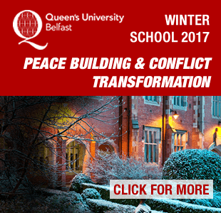 Attend the QUB Winter School on Peace Building and Conflict Transformation